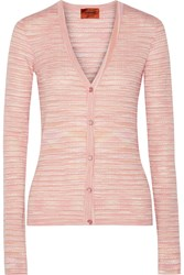 Missoni Crochet Knit Cardigan Pink
