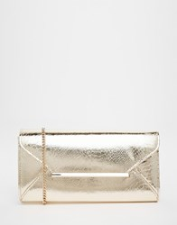 Lipsy Envelope Clutch Bag Gold