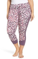 Zella Plus Size Women's 'Premier' Print Crop Leggings