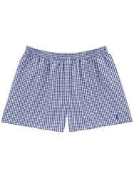 Thomas Pink Barnes Check Boxer Shorts Navy Pink