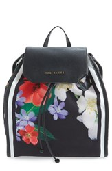 Ted Baker London 'Encyclopedia' Textile Drawstring Backpack