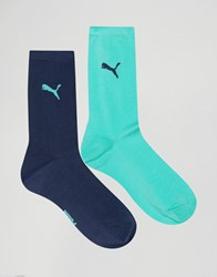 Puma Classic Two Pack Socks Green