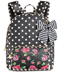 Betsey Johnson Large Backpack Floral Dot