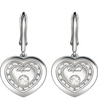 Chopard Very Heart Shaped 18Ct White Gold And Diamond Earrings