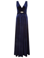 Ariella Milo Velvet Maxi Dress Navy