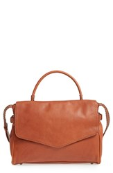 Treasure And Bond Leather Satchel Brown Brown Saddle