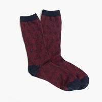 J.Crew Anchor Striped Trouser Socks Navy Red