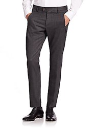 Giorgio Armani Slim Fit Wool Dress Pants Multiclr5