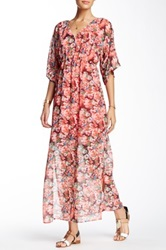 Romeo And Juliet Couture Floral Printed Maxi Dress Pink