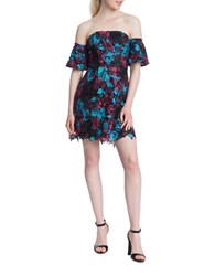 Plenty By Tracy Reese Floral Off The Shoulder A Line Dress Black Multi