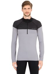Falke Half Zip Nylon Stretch Running T Shirt