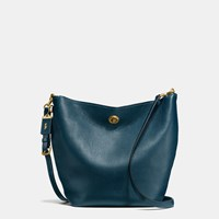 Coach Duffle Shoulder Bag In Glovetanned Pebble Leather Ol Dark Denim