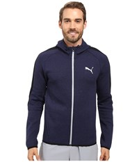 Puma Evostripe Proknit Full Zip Hoodie Peacoat Heather Men's Sweatshirt Gray