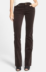 Kut From The Kloth Women's Baby Bootcut Corduroy Jeans Brown Bean