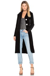 Frankie Velour Glitter Coat Black