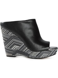 Sam Edelman Wedge Mules Black