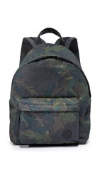 Msgm Floral Backpack Gray