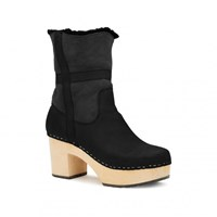 Swedish Hasbeens Hippie Low Boots Black