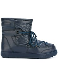 Moncler 'New Fanny' Ankle Boots Blue