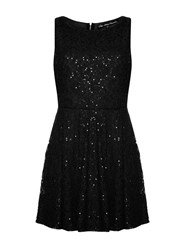 Mela Loves London Continuous Sequin Dress Black