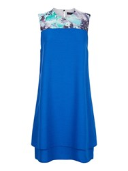 Hotsquash Double Layered Dress In Coolfresh Cobalt