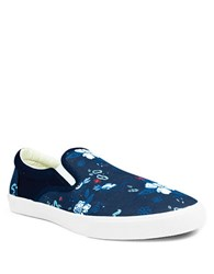 Bucketfeet Royal Lagoon Canvas Slip On Sneakers