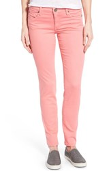 Women's Kut From The Kloth 'Diana' Skinny Five Pocket Pants Salmon