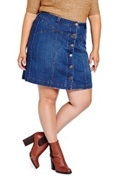 Addition Elle Love And Legend Plus Size Women's Denim Miniskirt