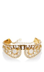 Dolce And Gabbana Gold Collar With Crystal Embellishment