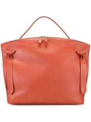 Jil Sander Zipped Tote Yellow And Orange