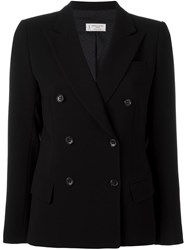 Alberto Biani Double Breasted Fitted Jacket Black