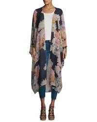 Young Fabulous And Broke Gypsy Floral Print Kimono Purple
