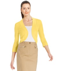 Jessica Howard Three Quarter Sleeve Open Front Cardigan