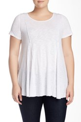 Final Touch Slub A Line Tee Plus Size White