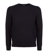 A.P.C. Apc Cable Knit Merino Jumper Male Navy