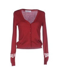 Kaos Knitwear Cardigans Women Brick Red