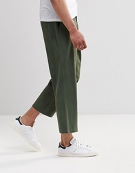 Religion Frequency Wide Leg Chinos Khaki Green