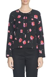 Cece Women's 'Floral Melody' Print Collarless Blouse