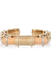 Givenchy Obsedia Cuff In Gold Rose Gold And Silver Tone