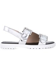 Opening Ceremony 'Mirror' Monk Strap Sandals Metallic