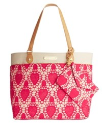 Betsey Johnson Lacey Heart Tote Pink