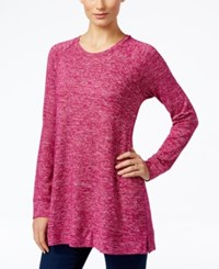 Styleandco. Style Co. Melange Knit Tunic Only At Macy's Magenta Blossom