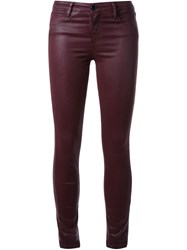 Brocken Bow Coated Skinny Jeans Pink And Purple