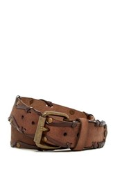 Star Usa By John Varvatos Studded Leather Belt Brown