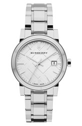 Burberry Women's Medium Check Stamped Bracelet Watch 34Mm
