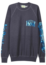 Aries Navy Foiled Logo Sweatshirt