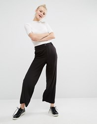 Monki Wide Leg Trouser Black