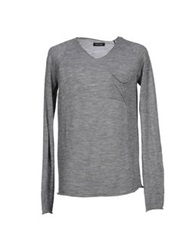Care Label Sweaters Grey