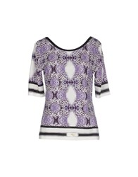 Angelo Marani Topwear T Shirts Women Purple