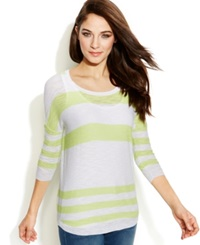 Two By Vince Camuto Striped Burnout Tunic